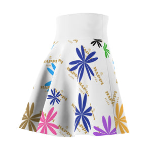 """My Happi Place"" Floral MHP Tiara and Flowers Women's Skater Skirt"