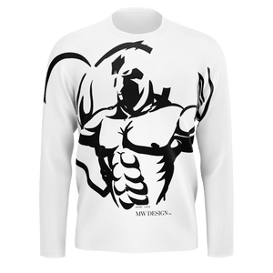 MHP Love Fitness Gladiator Long Sleeve T by MW Design 100% Pima Cotton