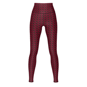 MHP Happi Crest Lined Allover Print Design maroon/blk