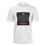 """Power Of Self Belief & Love Heart MW Design"" Men's Short Sleeve Shirt 100% Pima Cotton"