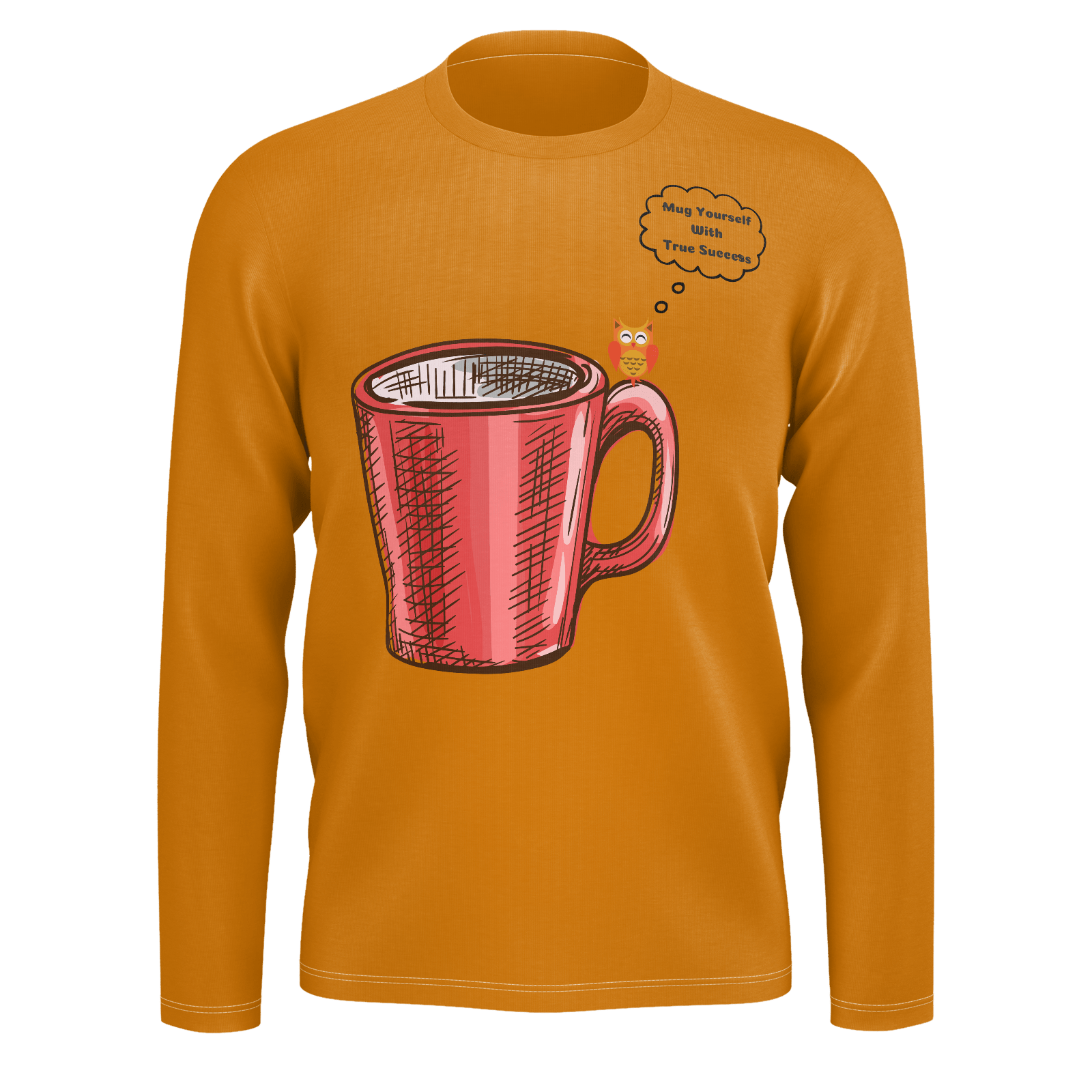 "MW Design ""Mug Yourself With True Success"" Men's Deep Gold 100% Pima Cotton"