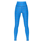 MHP Red Heart Love MW Design Allover Print Yoga Pants Azure Blue
