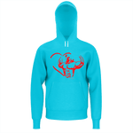 MHP Love Strength Gladiator Pullover Sweatshirt Cyan 100% French Terry Cotton
