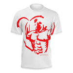 "MHP ""LOVE STRENGTH GLADIATOR"" BIG RED 100% Pima Cotton"