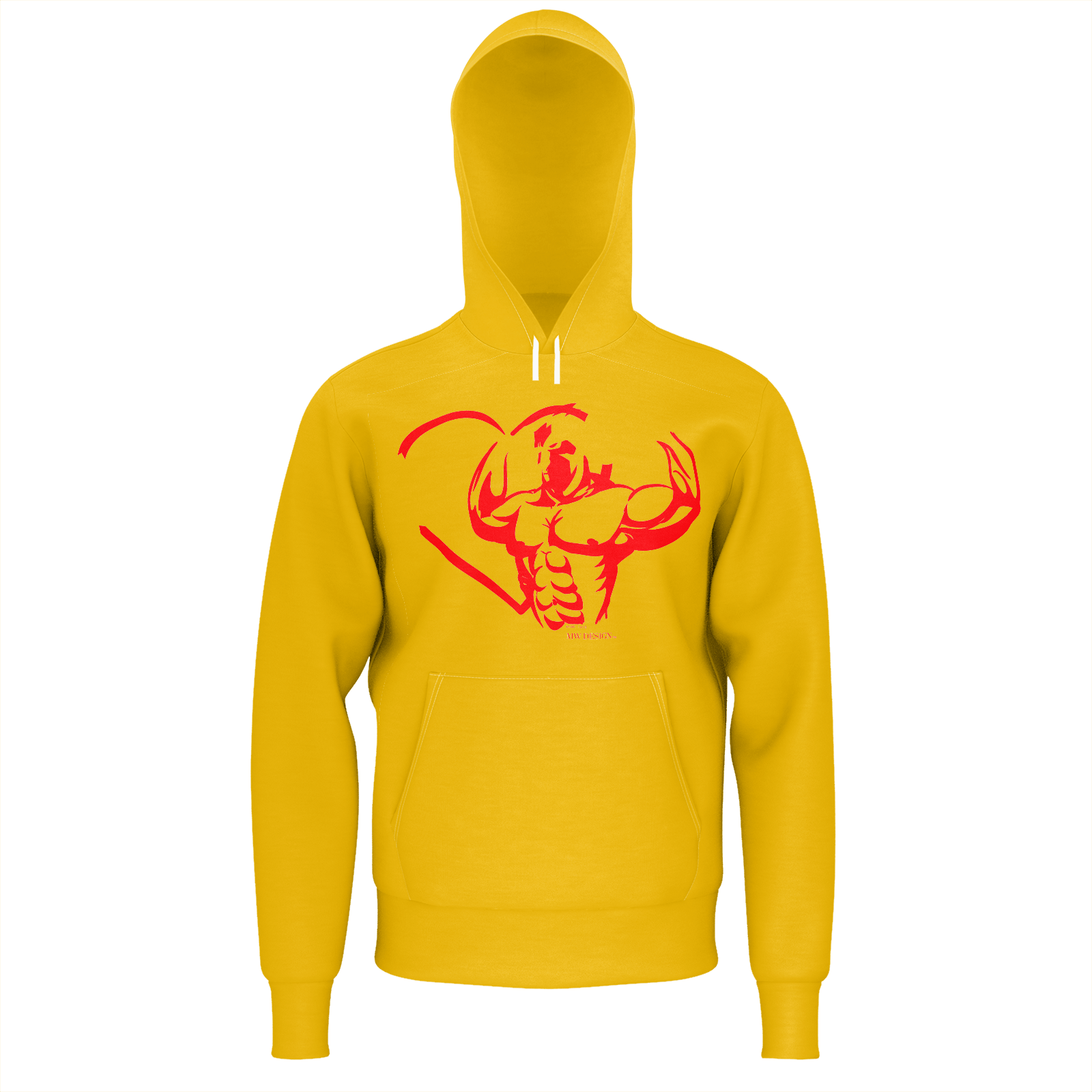 MHP Love Strength Gladiator Pullover Sweatshirt Amber 100% French Terry Cotton