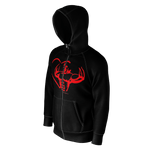 MHP Love Strength Gladiator Zip Up Sweatshirt blk 100% French Terry Cotton