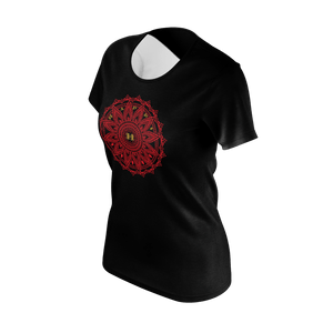 MHP Happi Medallion Short Sleev Tee blk/red/gold 100% Pima Cotton
