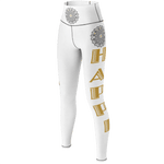 MHP Balancing Happi Yoga Pants  wht/gry/gold
