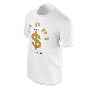 MHP Happi Positive Cash Flow LOA Tee for Men's Wht/Gold/Black 100% Pima Cotton