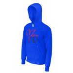 MHP Love MW Design Big Heart Pullover Hoodie Deep Blue 100% French Terry Cotton