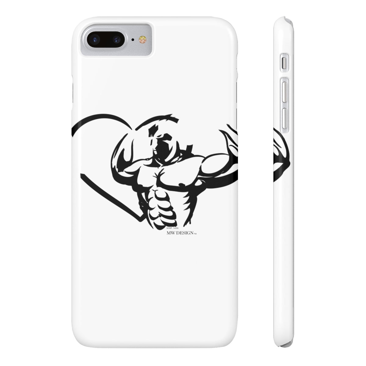 "MHP 1432 ""Love Strength"" Case Mate Slim Phone Cases"