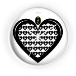 "The ""Happi Love Play Hearts"" Wall Clock By MW Design"