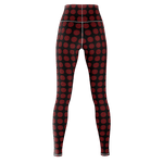 MHP Happi Medallion Allover Print Yoga Pants blk/red 6w