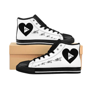 "New Limited Edition ""Dragonflies Love Play"" Women's High-top Sneakers"