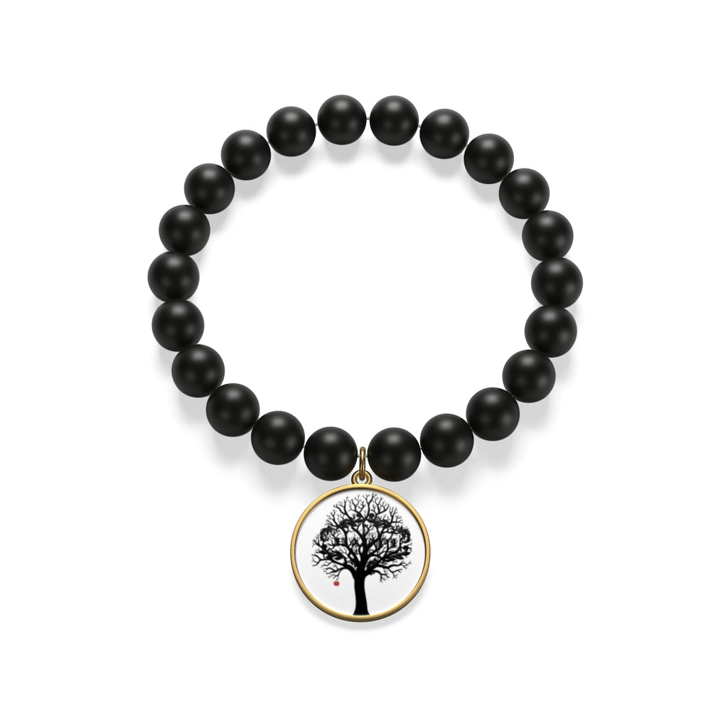 "MHP ""Optimistic Thinking Tree"" Matte Onyx Bracelet"