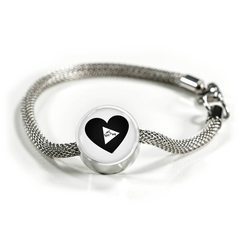 "MHP ""Dragonfly Love Play Heart"" Charmed Bracelet"