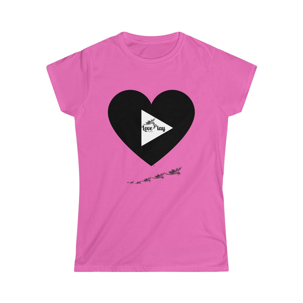 MHP Dragonfly Love Play Women's Softstyle Tee 100% Cotton