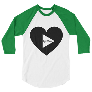 LOVE PLAY 3/4 Sleeve Raglan Tee