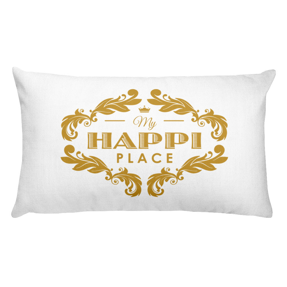 My Happi Place Rectangular Pillow w/ True Success Quote