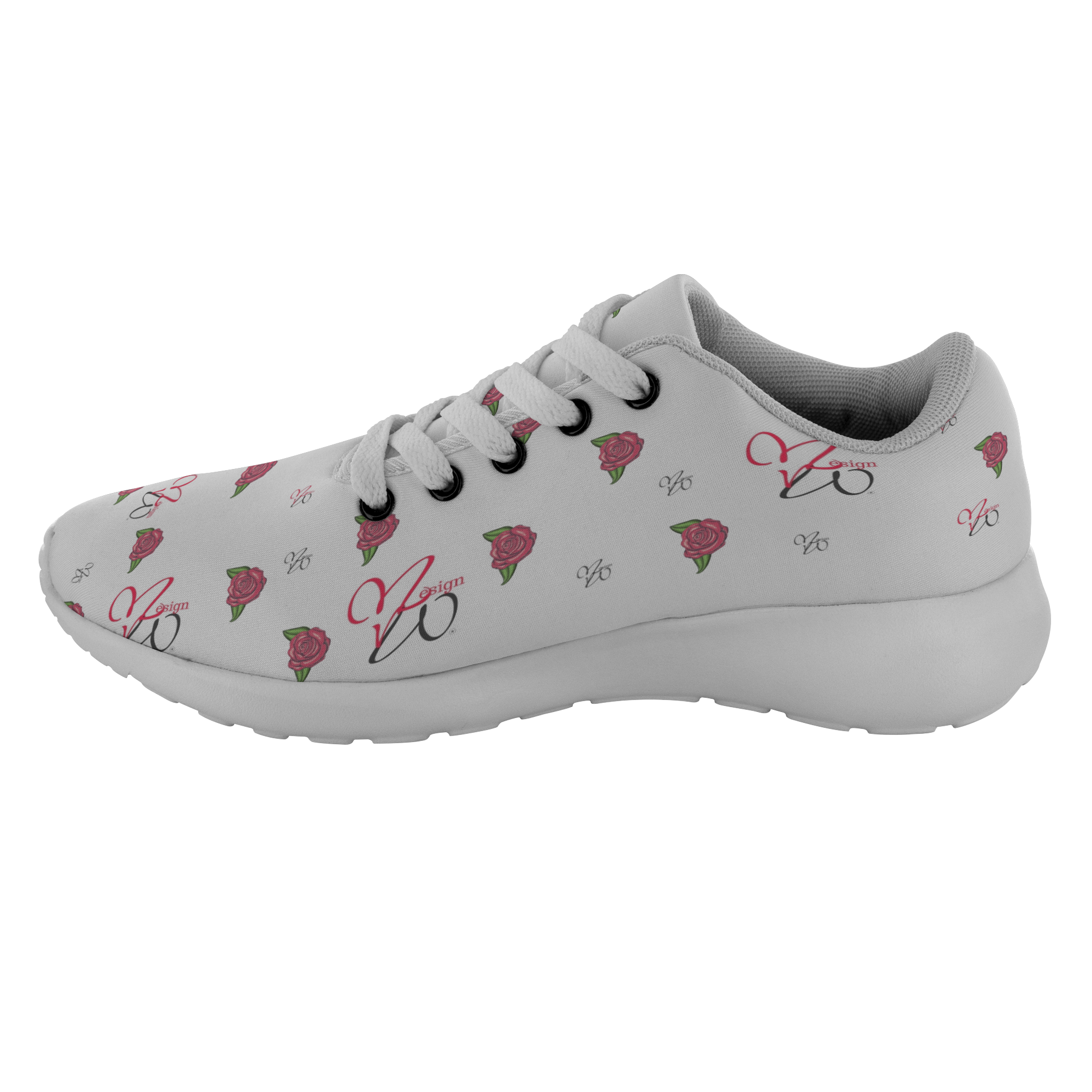 Love Hearts and Roses MW Design Running Shoes