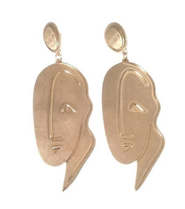 PORTRAIT EARRINGS (GOLD)