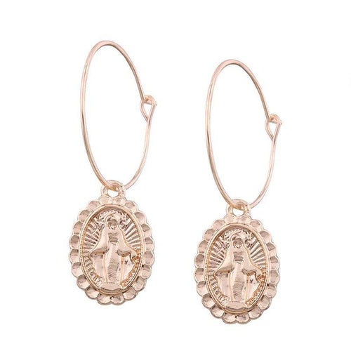 ST MARY HOOP EARRINGS
