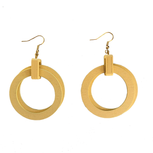 TIMBERLAND ROUND EARRINGS (NATURAL)