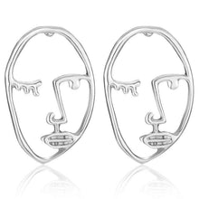 Load image into Gallery viewer, FACE TO FACE EARRINGS (SILVER)