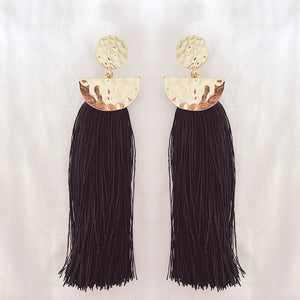 ALEXIS TASSEL EARRINGS (BLACK)