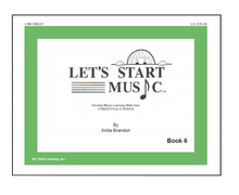 Load image into Gallery viewer, Let's Start Music Book 6