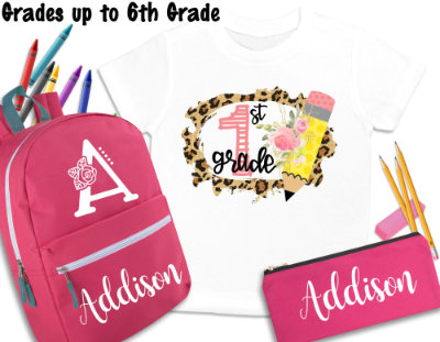 girl backpack set