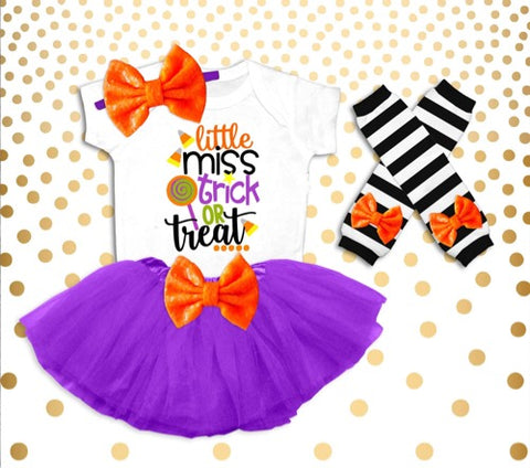 little miss trick-or-treat tutu