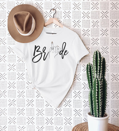Bride Wedding Ring Finger Engaged Shirt