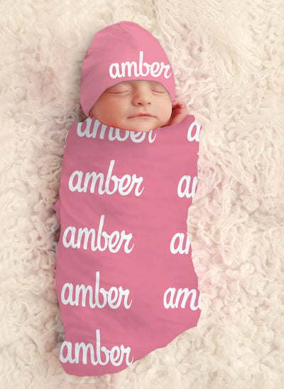 Baby Girl Personalized Swaddle