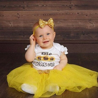 Sunflower Birthday Tutu Outfit