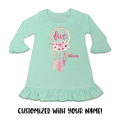Toddler Girl's Dreamcatcher Birthday Dress