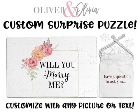 Will You Marry Me Proposal Puzzle