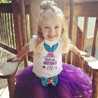 Girl's Mermaid Birthday Tutu Outfit