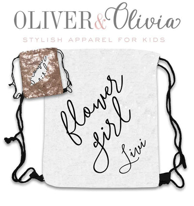 Personalized Sequin Flower Girl Bag