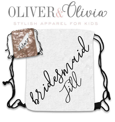 Personalized Sequin Bridesmaid Bag