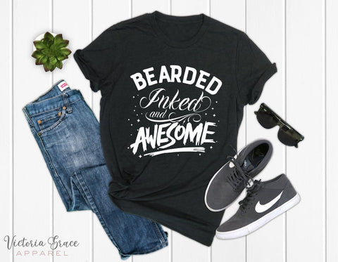 Bearded Inked And Awesome Shirt