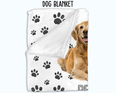 Personalized Dog Photo Blanket