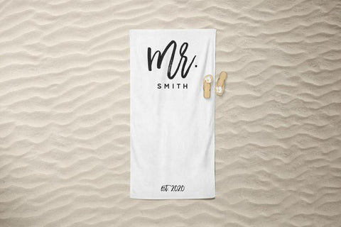Personalized Mr. Beach Towel