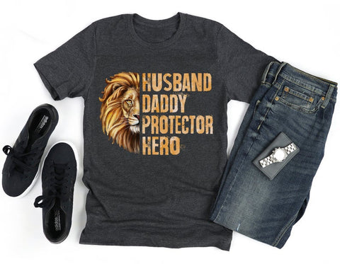 Husband Dad Protector Hero Shirt