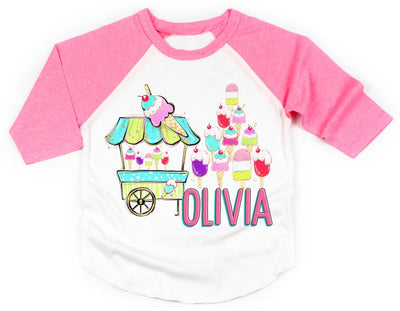 Personalized Ice Cream Raglan