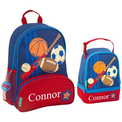 Kids Personalized Sports Backpack + Lunchbox