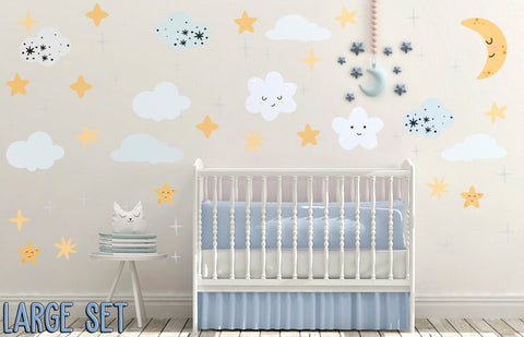 Night Sky Nursery Wall Decal