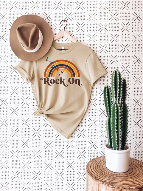 Rock On Butterfly Rainbow Shirt