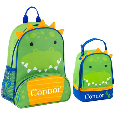 Kids Personalized Dinosaur Backpack + Lunchbox