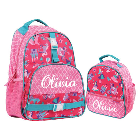 Kids Personalized Princess Backpack + Lunchbox